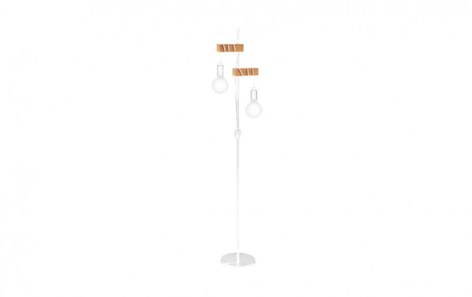 Lampadar Townshend, metal/lemn, alb, 21 x 167 x 25 cm, 10w imagine 2021 chilipirul zilei