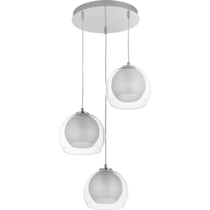 Lustra tip pendul Mcjunkin, metal/sticla, 60w