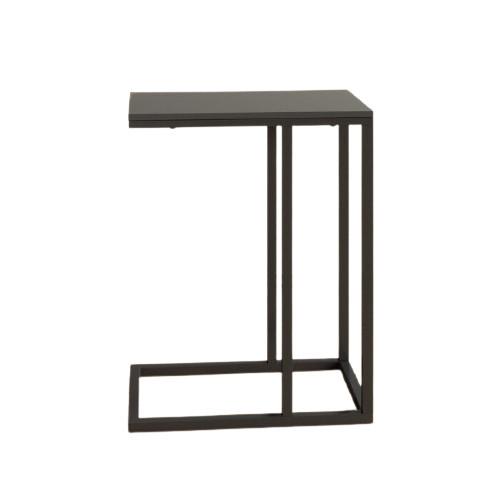 Masa laterala Merrilee, MDF/metal, neagra poza chilipirul-zilei.ro