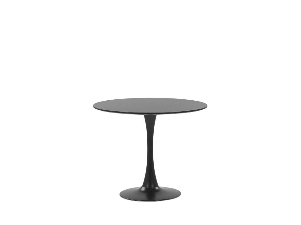 Masa rotunda Boca, negru, 73 x 90 x 90 cm chilipirul-zilei.ro