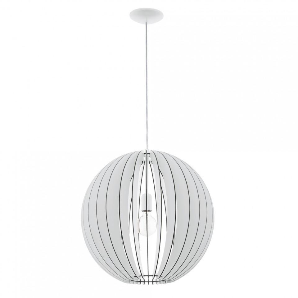 Pendul COSSANO metal/lemn, alb, diametru 50 cm, 60 W