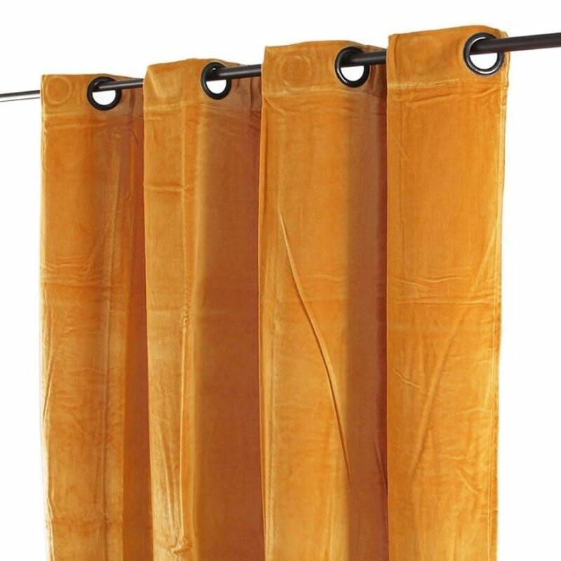 Perdea Alante din catifea, portocaliu, 150 x 250 cm poza chilipirul-zilei.ro