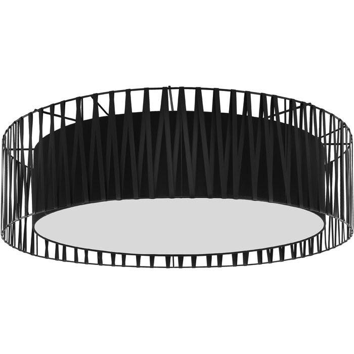 Plafoniera Patnode, metal, negru, 20 x 72 x 72 cm 2021 chilipirul-zilei.ro