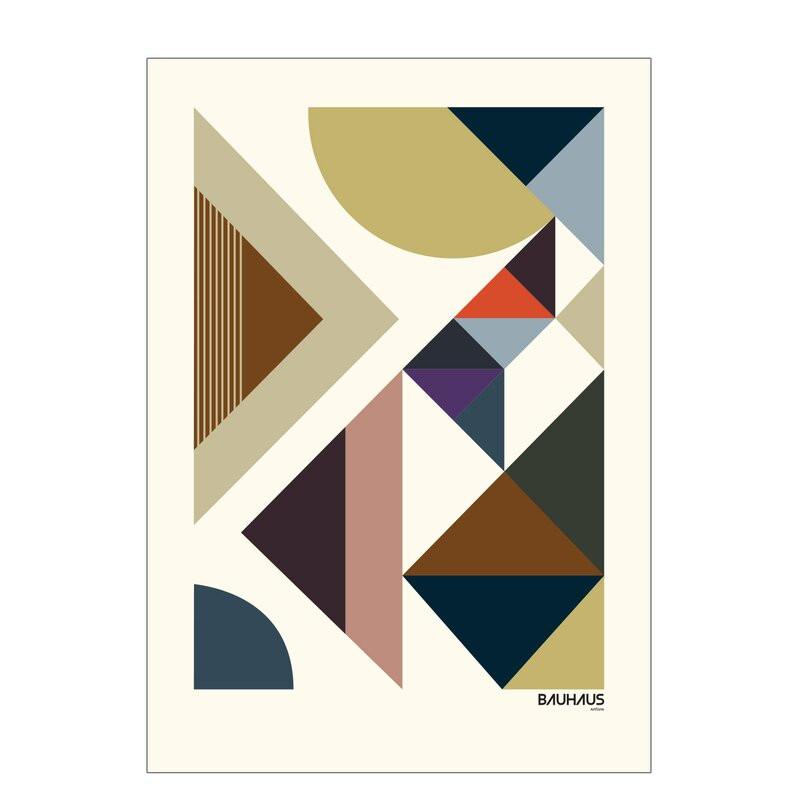 Poster 'Bauhaus' by Livston Copenhagen, 70 x 50 cm 2021 chilipirul-zilei.ro