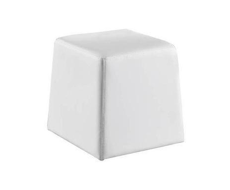Puf Key alb, 35 x 35 x 35 cm chilipirul-zilei 2021