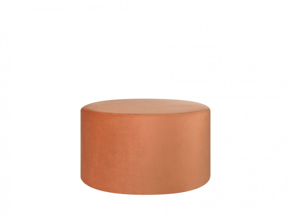 Puf MILLEN, MDF/catifea, portocaliu, 61 x 61 x 36 cm