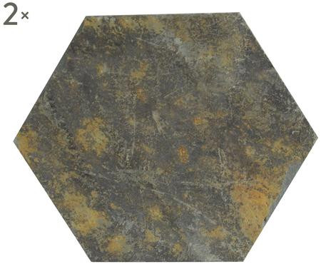 Set de 2 farfurii pentru lumanarele in forma de hexagon poza chilipirul-zilei.ro