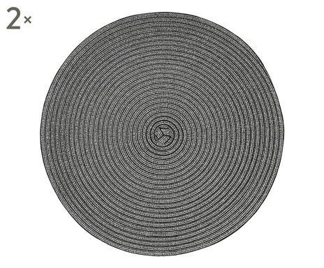 Set de 2 naproane Woven, negru imagine chilipirul-zilei.ro