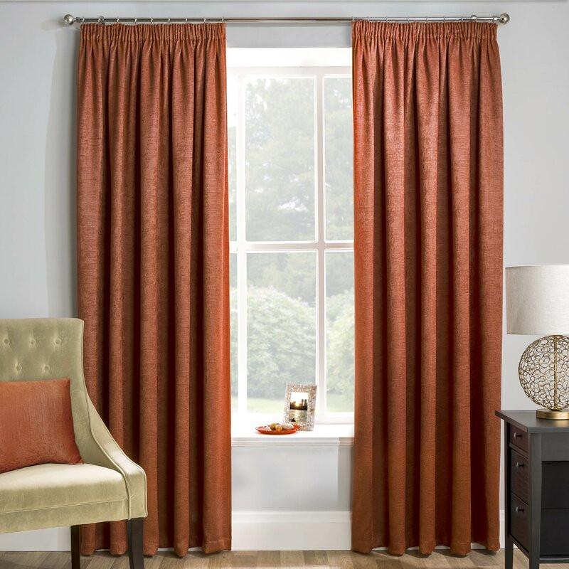 Set de 2 perdele Armington, portocaliu, 229 x 229 cm