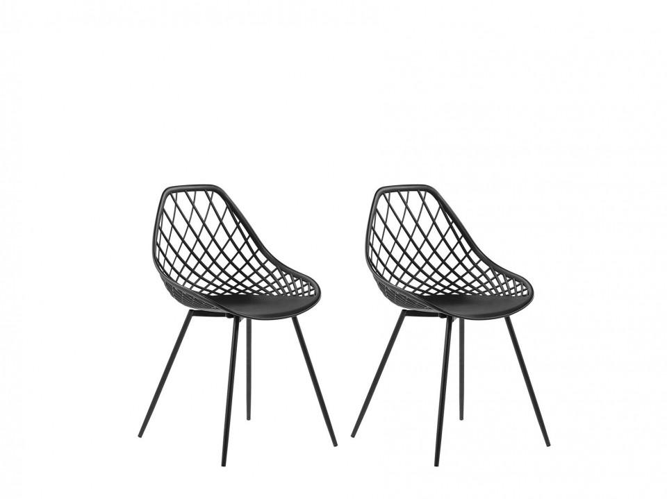 Set de 2 scaune Canton, negru, 46 x 52 x 86 cm image0