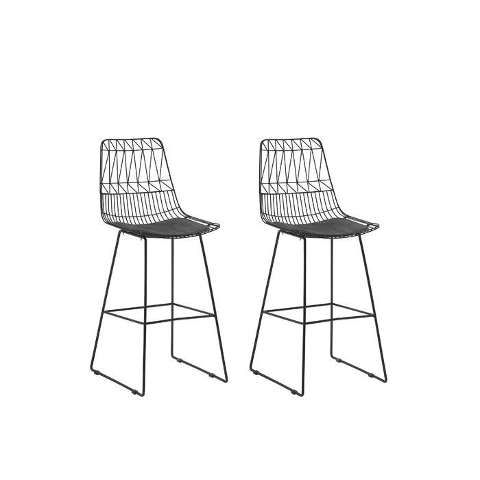 Set de 2 scaune de bar Crestline, negre, 114,5 x 48 x 57 cm 2021 chilipirul-zilei.ro
