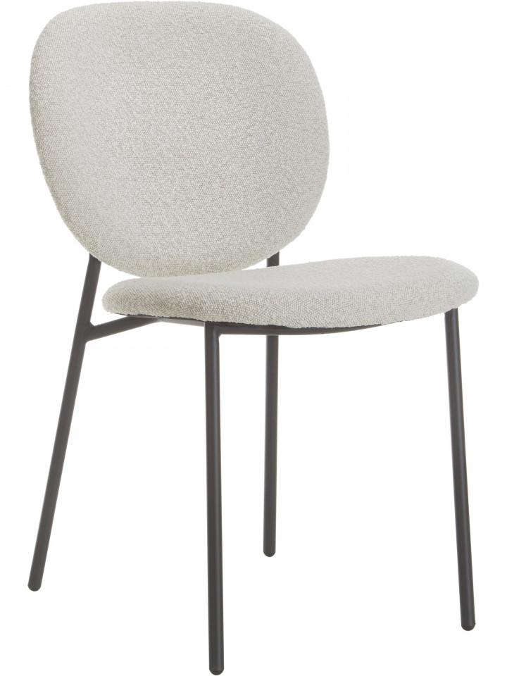 Set de 2 scaune Ulrica, crem/negre, 47 x 81 x 61 cm imagine 2021 chilipirul zilei
