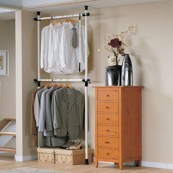 Sistem de depozitare a hainelor din metal, 278 x 112cm