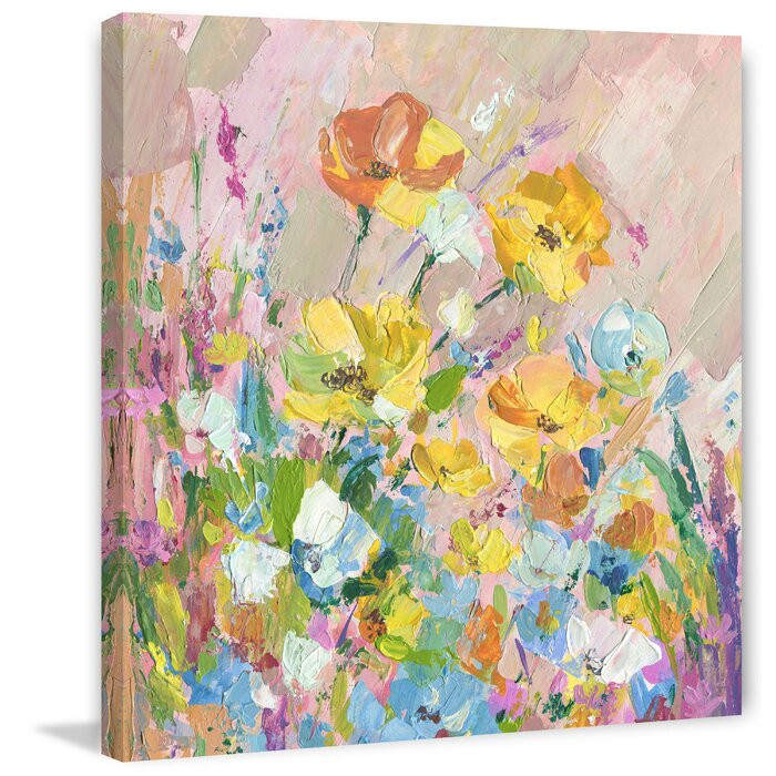 "Tablou ""Narcise galbene"", panza, 45 x 45 x 3,81 cm imagine chilipirul-zilei.ro"