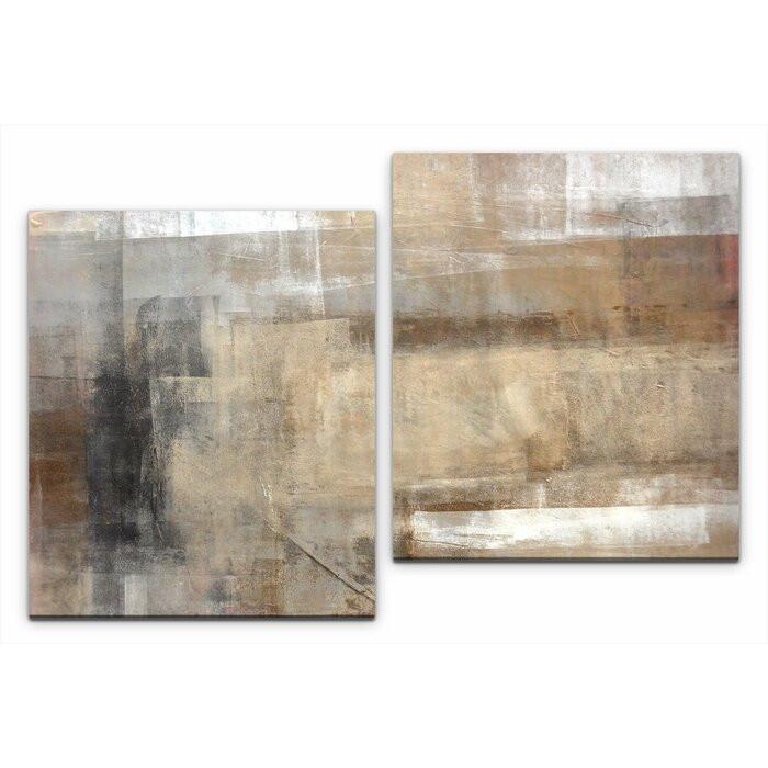 Tablou, 2 piese, panza/lemn, 80 x 120 x 3 cm