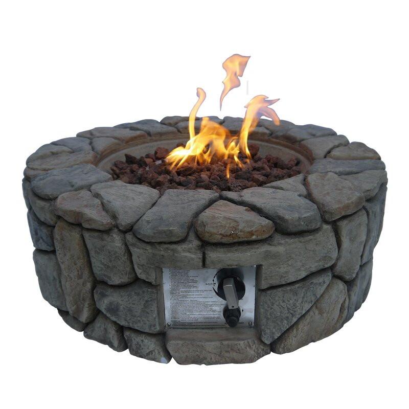 Vatră de foc din polyresin, 23cm H x 71cm W x 71cm D