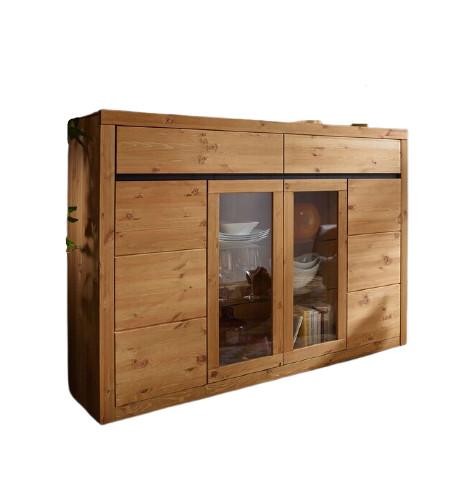 Bufet Houk, lemn, maro, 125 x 177 x 42 cm 2021 chilipirul-zilei.ro