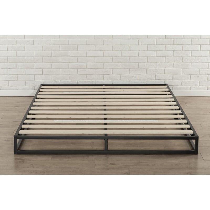 Cadru de pat Ellen, negru, 189,23cm L x 135,89cm L x 15,24cm H