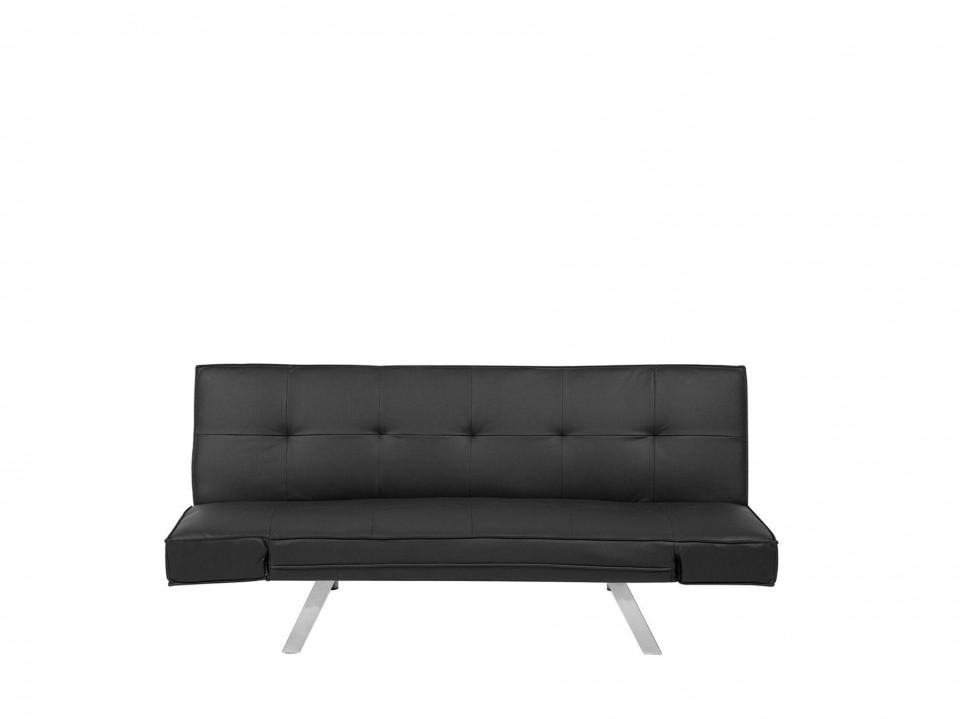 Canapea extensibila Bristol, negru, 84 x 180 x 74 cm chilipirul-zilei.ro