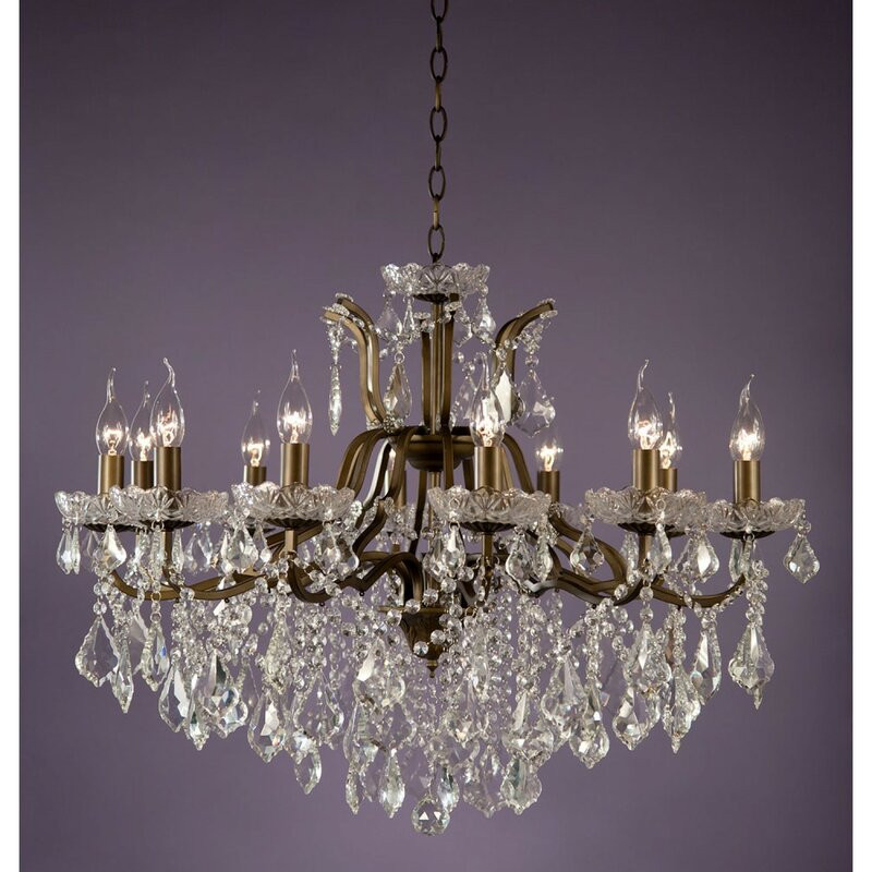 Candelabru Amarion din cristal, 12 lumini