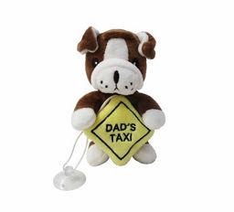 Catelus de plus cu ventuza Dad's Taxi, 10 cm, si o jucarie plus Frankestein cadou chilipirul-zilei 2021