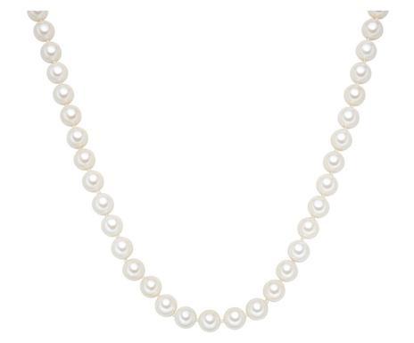Colier Pia perle naturale, alb, lungime 120cm