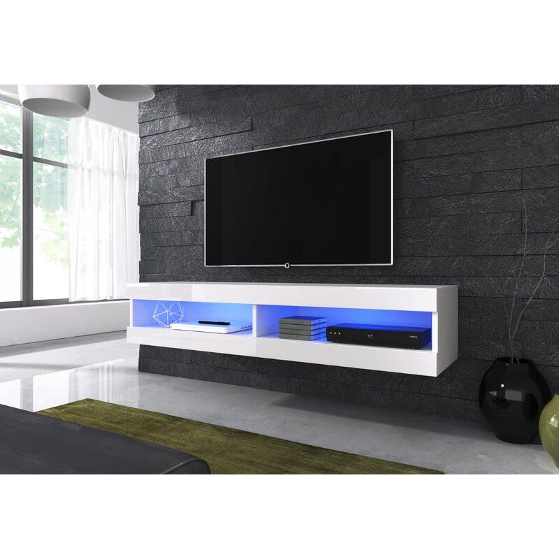 Comoda TV 65  Korando, alb, 150 x 30 cm