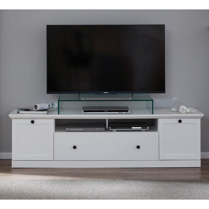 Comoda TV 78  Bowdoinham, alb, 119 x 49 cm