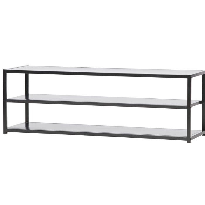Comoda TV Hannaford, metal, neagra, 120 x 40 x 35 cm poza chilipirul-zilei.ro