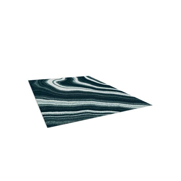 Covor Tilly-Mae, Negru/Verde, 120 x 170 cm