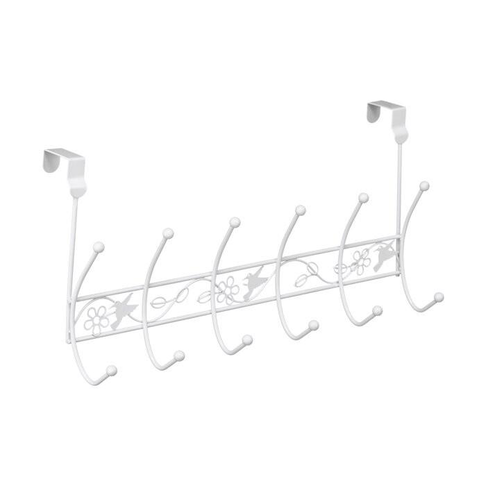 Cuier pentru usa Comeau, metal, alb, 24 x 49 x 12 cm