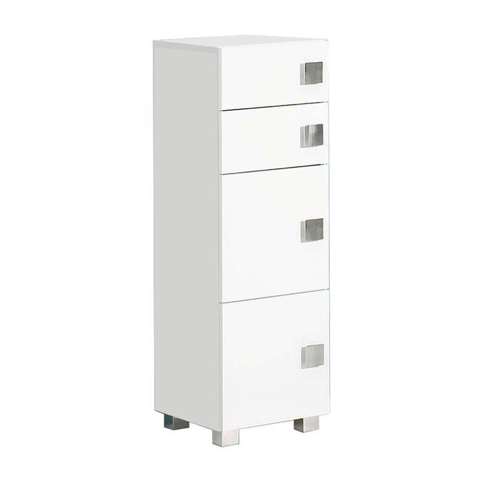 Dulap pentru baie Woolfolk, PAL, alb, 101 x 33 x 34,5 cm