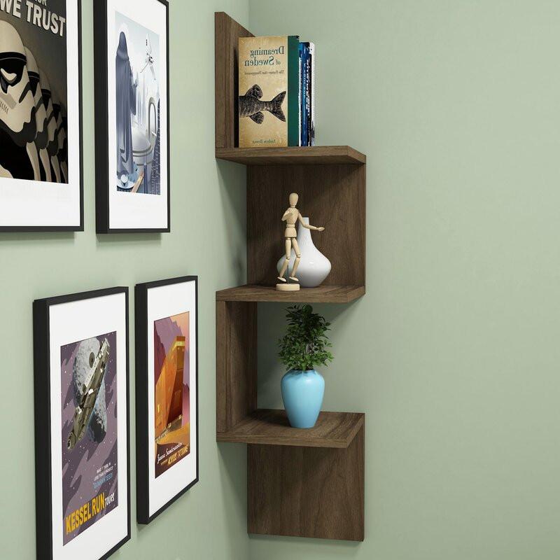 Etajera Bulah din lemn, 100 x 25 cm