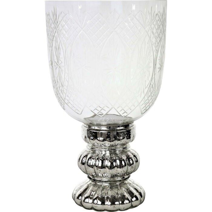 Felinar, sticla, transparent, 39 x 23 x 23 cm