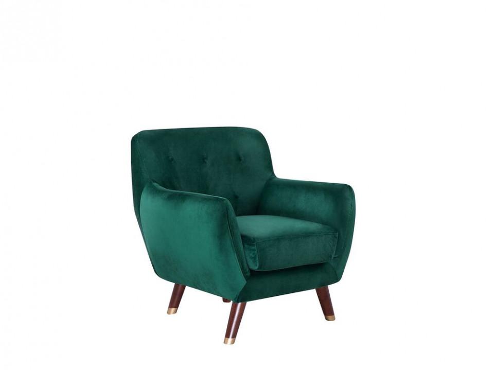 Fotoliu Bodo din catifea, verde smarald