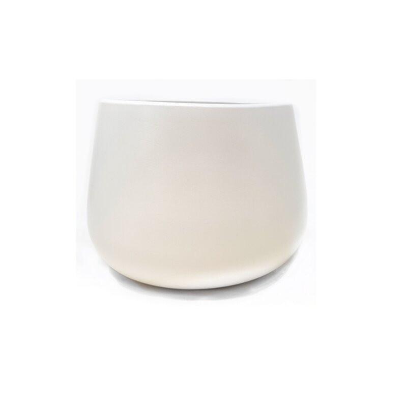 Ghiveci Elraine din ceramica, alb, 16 x 20.5cm
