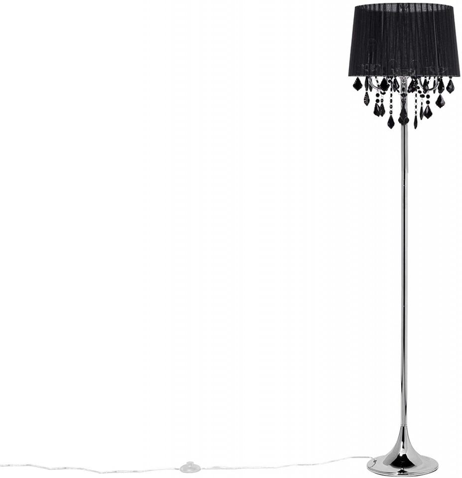 Lampadar EVANS, metal, negru, 165 x 40 x 40 cm