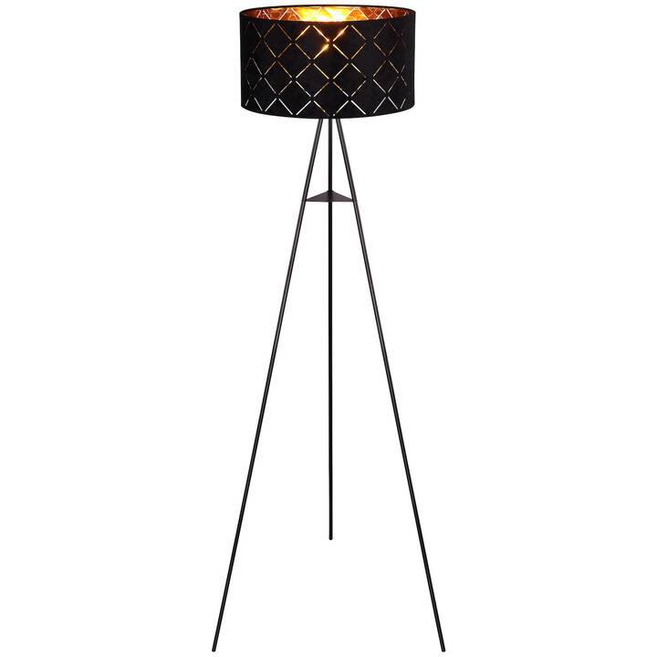 Lampadar Sunna, metal/textil, negru, 149 x 69 cm imagine 2021 chilipirul zilei