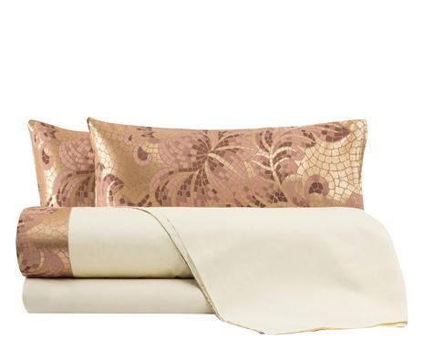 Lenjerie de pat in stil italian Mosaico rosa antico, matrimonial poza chilipirul-zilei.ro