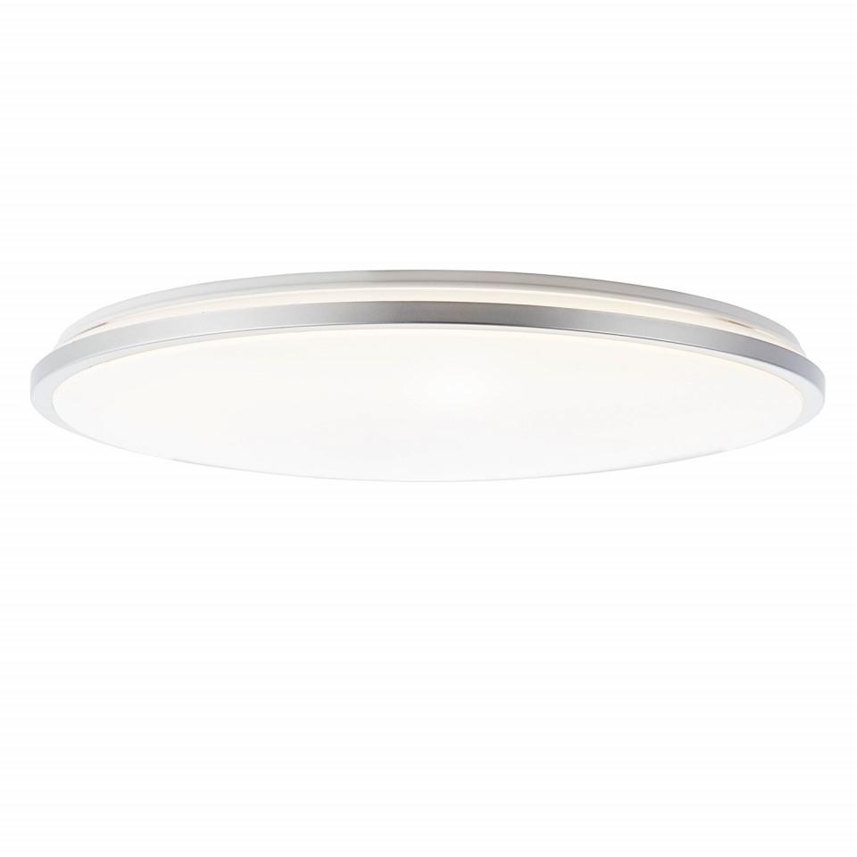 Lustra LED Jamil sticla acrilica/otel, alb, 1 bec, diametru 48 cm, 230 V