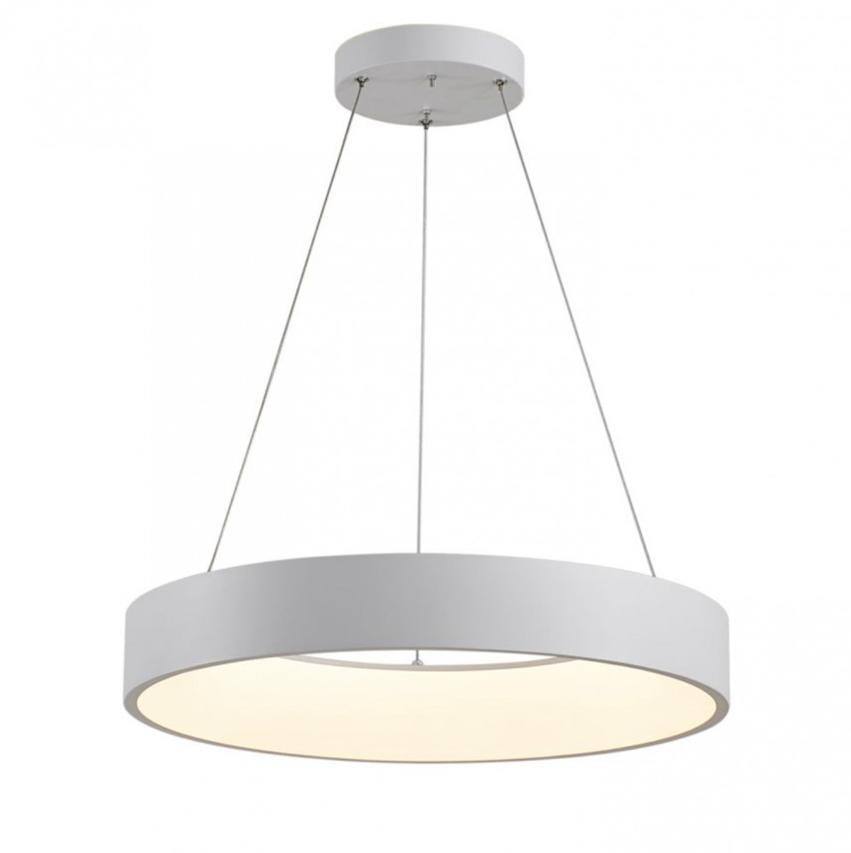 Lustra tip pendul LED Cameron I policarbonat / fier, alb, 1 bec, diametru 45 cm, 230 V imagine chilipirul-zilei.ro