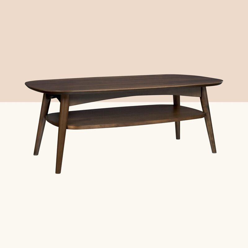 Masa de cafea Elisa din lemn masiv, 109 x 59 cm