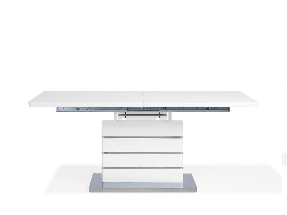 Masă extensibilă HAMLET, alb, 180/220 x 90 x 78 cm