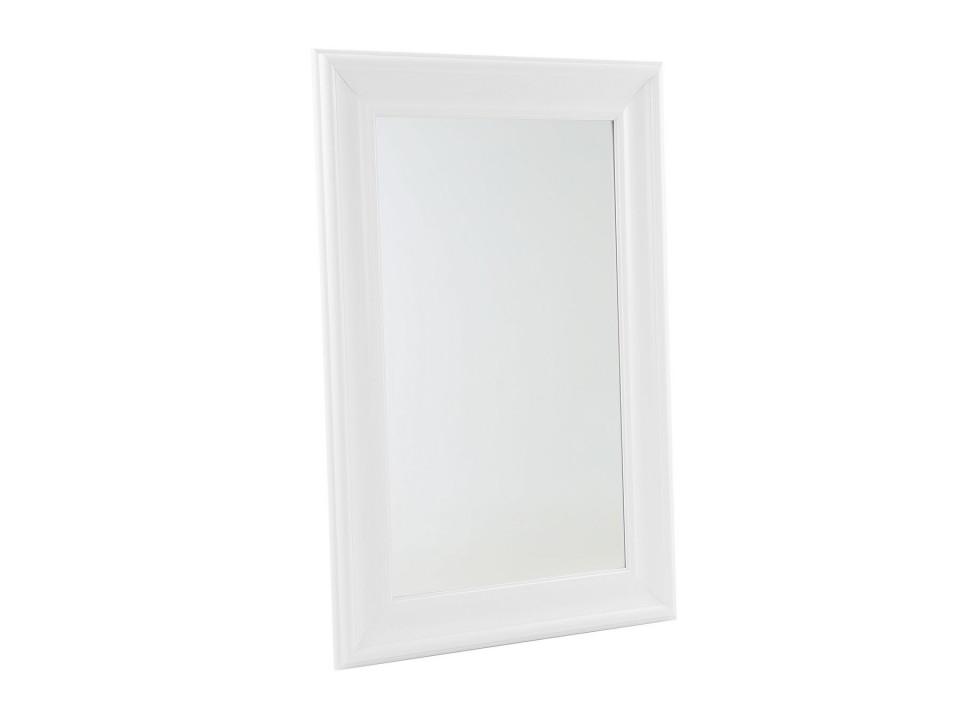 Oglinda de perete LUNEL, alba, 90 x 60 x 2 cm poza chilipirul-zilei.ro