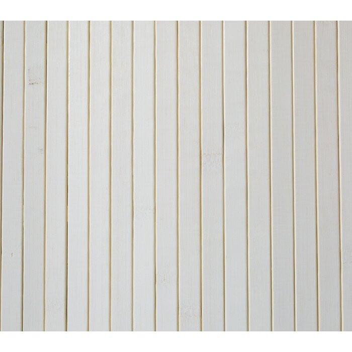 Paravan/separator camera cu 1 panou Jeri, bambus/ratan, alb