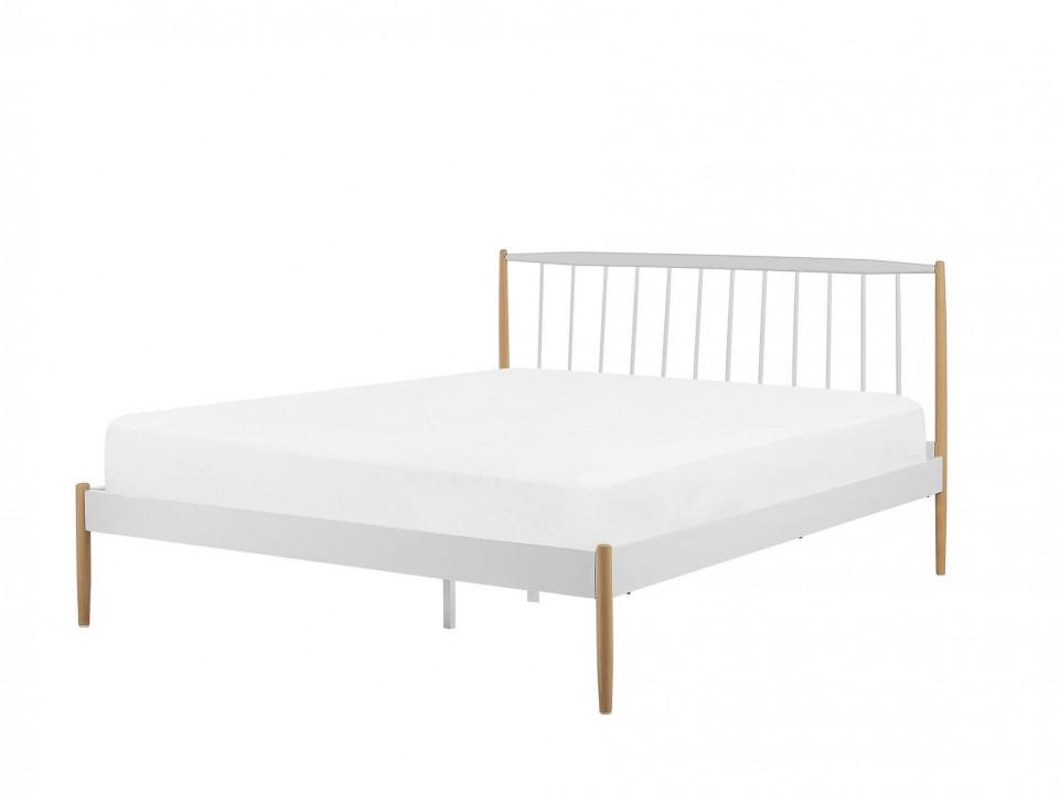 Pat MAURS, lemn/metal, alb, 100 x 161 x 205 cm