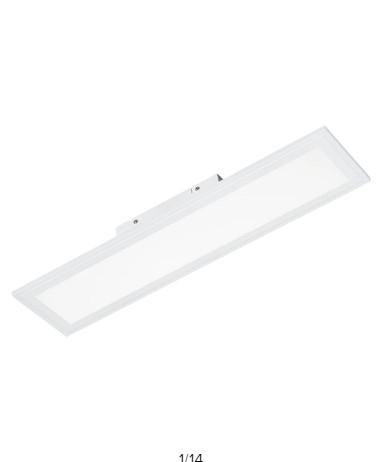 Plafoniera Xenia, LED, metal, alba, 15 x 4.5 x 60 cm