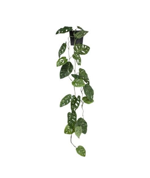 Planta artificiala Monstera, in ghiveci, verde, 115 x 30 x 30 cm poza chilipirul-zilei.ro