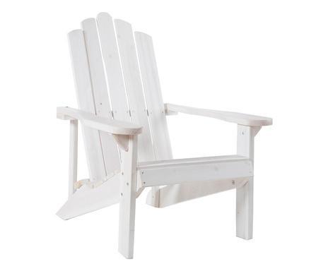 Scaun Relax din lemn masiv, alb