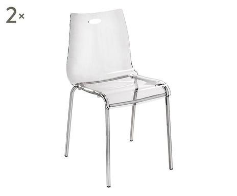 Set de 2 scaune transparente Essentia, 48x54x48cm poza chilipirul-zilei.ro
